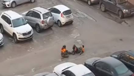 Кунг-фу белорусских жэсовцев попало на видео
