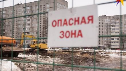 Жильцы домов на Быховской в Гомеле протестуют против уплотнительной застройки