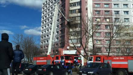Залетел окурок? В Гомеле горел балкон высотки на 5 этаже