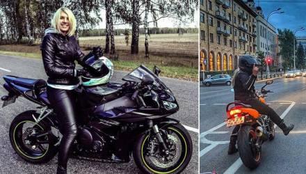 Блондинка на байке: Слабоумием на дорогах Гомельщины блистают в полной мере и мужчины, и женщины