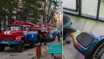 В светлогорской квартире загорелся гироскутер, поставленный на зарядку. Всех спасла 10-летняя девочка