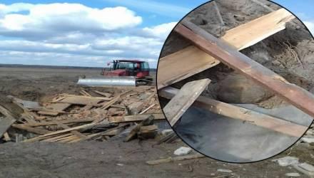 Эхо войны. Авиабомбу весом в 250 кг обнаружили в Светлогорском районе (видео)