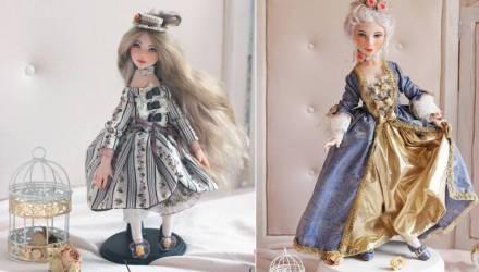 Гомельчанка создала коллекцию кукол в стиле рококо и представила её на выставке в Москве