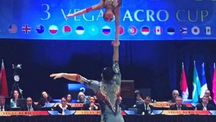 Гомельский школьник и юная брестчанка завоевали серебро этапа Кубка мира по спортивной акробатике в Лас-Вегасе