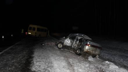 """Страшное ДТП: водитель """"Лады"""" столкнулся с маршруткой """"Гомель-Речица"""" – один погибший, трое получили травмы"""