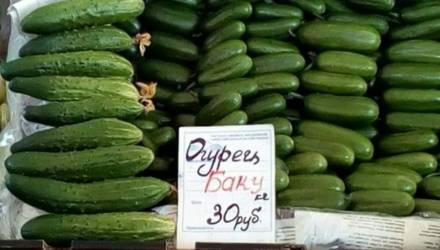 Фотофакт. В Минске огурцы продают по 30 рублей за килограмм