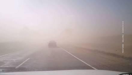 Песчаная буря накрыла Гродно: видимость упала до нуля