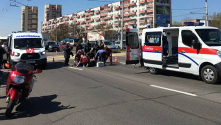 Опубликованы кадры наезда Fiat на 4 девушек в Бресте