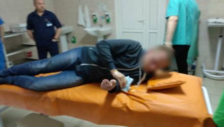 Во время задержания гомельчанин проглотил закладку с психотропом (видео)