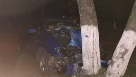 Ночные покатушки: в Мозыре 22-летний водитель врезался в дерево и сбежал, в салоне остались травмированные парень и девушка