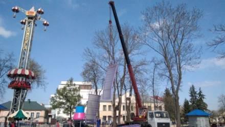 Вместо «Сюрприза» - «Гравитация»: в гомельском парке монтируют новую карусель