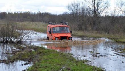 В уникальную арт-деревню Чырвоны Кастрычнiк Речицкого района добраться по бездорожью практически невозможно