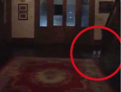 Супруги при повторном просмотре видео заметили, как к ним крались силуэты детей