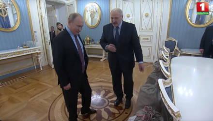 Путину понравилась картошка, которую привез Лукашенко к Новому году