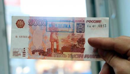 Речичанка заработала на сезонных работах в РФ 5000 российских рублей и пришла в белорусский обменник – оказалось, фальшивка