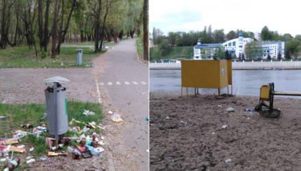 Турист из Парижа приехал в Гомель и неприятно удивился количеством мусора на набережной