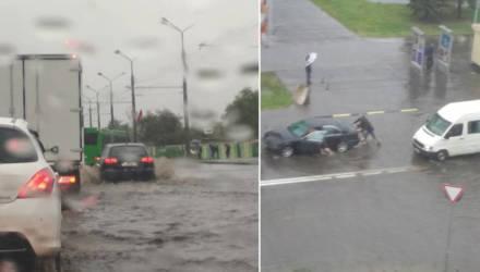 Вроде никто не утонул, но кое-кто заглох. В Гомеле некоторые улицы залило дождём