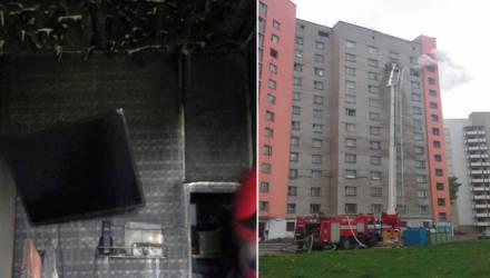 В Гомеле при пожаре в общежитии эвакуированы 35 человек, 5 из них – дети