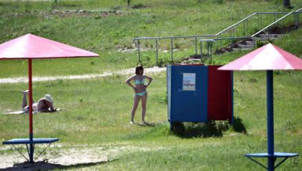 Лето и открытие купального сезона близко. На пляжах города замечены первые загорающие гомельчанки