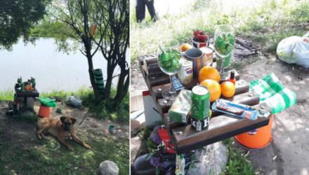 Романтика по-сельмашевски... Гомельчанин хотел устроить романтический ужин на берегу водоёма, но неожиданно напился и ничего не получилось