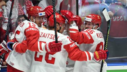 Сборная России одержала шестую победу подряд на чемпионате мира по хоккею