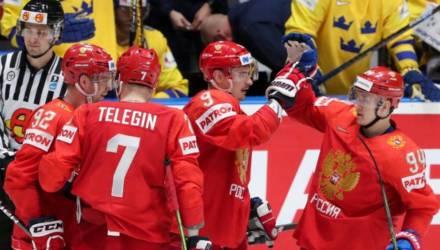 ЧМ по хоккею: Россия обыграла Швецию и заняла первое место в группе