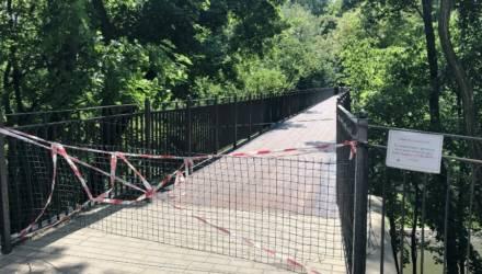 С сегодняшнего дня в Гомеле закрыт мост через Лебяжий пруд