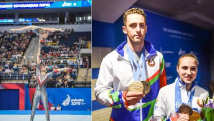 Гомельчане Артур Беляков и Ольга Мельник завоевали золото II Европейских игр в спортивной акробатике