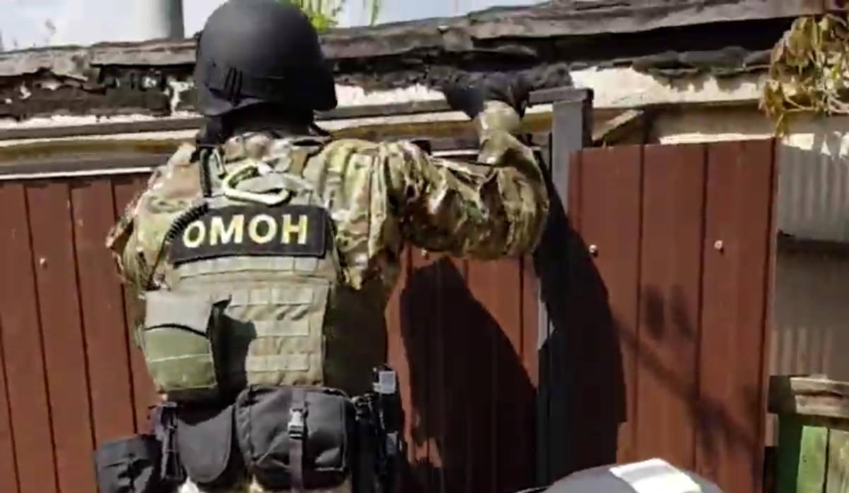 ОМОН перелез через забор и задержал гомельчанина, который выращивал качественную коноплю на продажу – видео