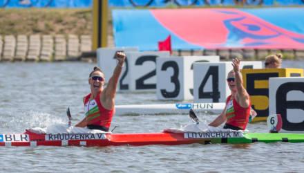 Гомельские байдарочницы Марина Литвинчук и Ольга Худенко победили на II Европейских играх