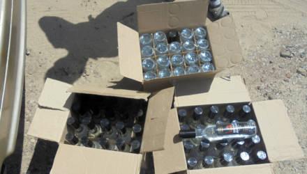 В багажнике у гомельчанина нашли 500 литров российской водки