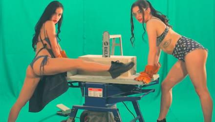 Пускай работают в белье. В Беларуси девушки, которые не боятся стружки, снялись в откровенном видео