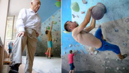 «И в галошах были счастливы, а сейчас что?» Как в Гомеле работает 77-летний тренер по скалолазанию