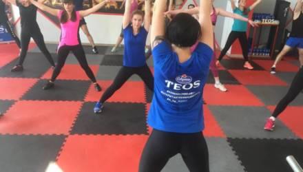Впервые в Гомеле прошла открытая фитнес-тренировка TEOS