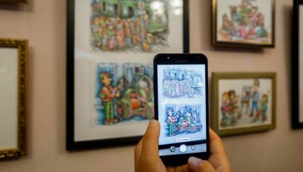 25 графических работ известного белорусского шаржиста представлены в Гомеле