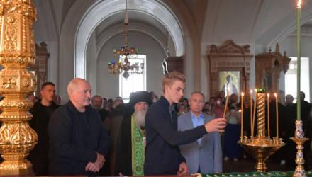 Лукашенко с младшим сыном и Путин посетили Валаам