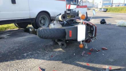 Мотоцикл столкнулся с МАЗом под Гомелем – водитель погиб