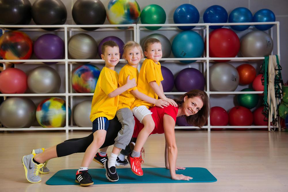 Фото дети в спортзале
