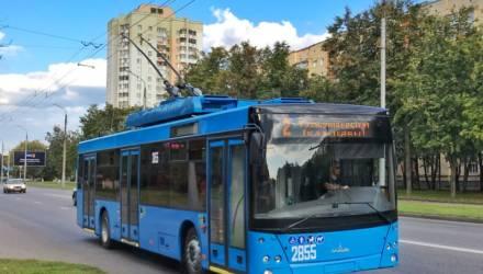 В Гомеле появился первый троллейбус МАЗ-203Т