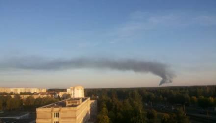 Из факельной установки на Мозырском НПЗ шёл густой едкий дым, местных испугал запах газа. Что это было?