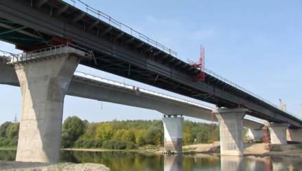 Новый мост через реку Сож под Гомелем почти готов