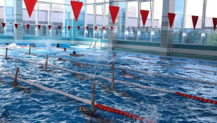 В Мозыре после длительной реконструкции состоялось торжественное открытие бассейна