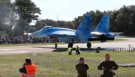 В Сети появилось видео, как украинский истребитель сдул людей на авиашоу в Бельгии