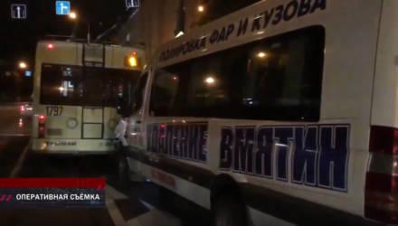 """""""В маршрутке, врезавшейся в троллейбус на улице Хатаевича в Гомеле, травмированных было сразу 5 человек"""""""