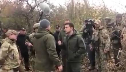 """Я – президент, а не лох"". Зеленский пообщался с националистами в Донбассе"