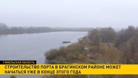 Строительство порта в Брагинском районе может начаться уже в конце 2019 года