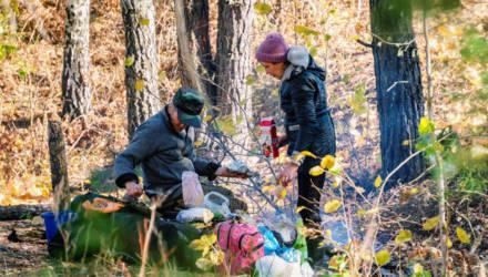 Под Светлогорском пара живёт в лесу и не хочет возвращаться в общество