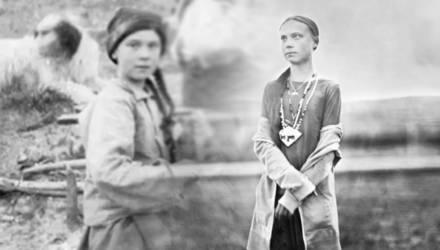 Пришла предупредить нас о будущем. В архивах нашли фото Греты Тунберг XIX века