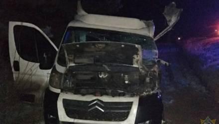 В Петриковском районе столкнулись микроавтобус и грузовик, из первого авто водителя доставали спасатели