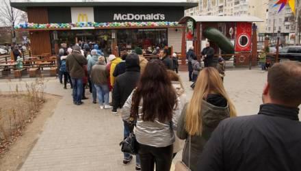 В Гомеле второй день стоят очереди в открывшийся «МакДональдс»